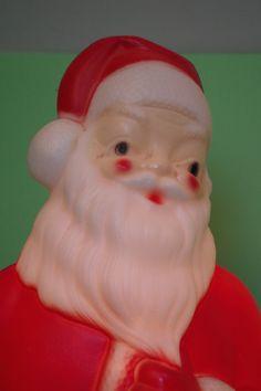 Vintage 1973 Blow Molded Santa Claus Light Up by retrowarehouse