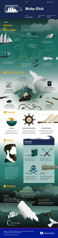 Moby-Dick infographic