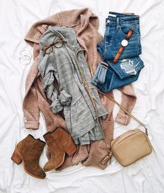 Love the color of the blush cardigan