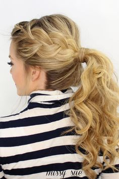 Side French Braid Ponytail | Missy Sue | Bloglovin'