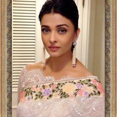 Aishwarya Rai Bachchan in a Pastel Saree by Tarun Tahiliani