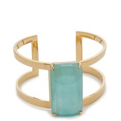 Kate Spade New York Beach Gem Cuff Bracelet (655 CNY) ❤ liked on Polyvore featuring jewelry, bracelets, accessories, pulsera, rings, aqua, kate spade bangle, hinged cuff bracelet, bracelet bangle and gemstone bracelet