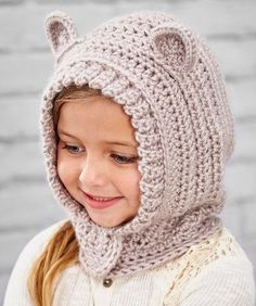 Happy Hoodie Hat Free Crochet Pattern for Kids from Redheart. Skill Level: Intermediate Kids will love wearing this crocheted hood style hat. The ears make it extra cute and perfect for playtime imagination. A hidden snap makes it easy to put on, but harder to lose at recess! Free Pattern More Patterns Like This!
