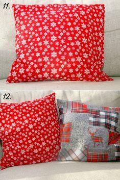 Díl 3. Návod na povlak na polštář a dárkový pytlíček | DůmLátek.cz - e-shop látky, metráž, galanterie Throw Pillows, Quilts, Blanket, Sewing, Bed, Toss Pillows, Dressmaking, Cushions, Couture
