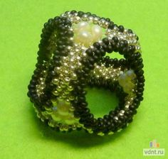 Кольцо для платка - делаем из бисера своими руками | ВДНТ