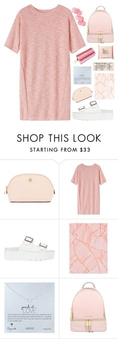"""""""Blush"""" by janesabelle on Polyvore featuring Tory Burch, Toast, SPURR, Topshop, Dogeared, Michael Kors and The Body Shop"""