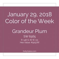 Color of the Week - January 29 2018