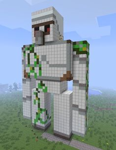 Iron golem 3D art