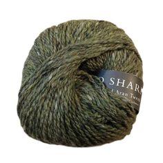 Silkroad Aran Tweed, wool, silk and cashmere blend, 50g, Wintergrass - I Wool Knit - 1