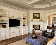 Corner Fireplace With Built In Home Design Ideas, Pictures, Remodel and Decor