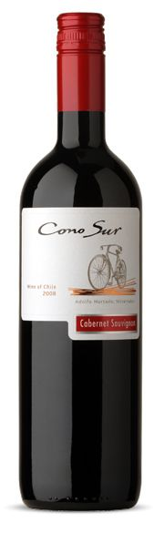Cono Sur Cabernet - A great tasting Chilean wine with hints of black currants, blackberries, cocoa and espresso. Pairs great with grilled meats, strong cheeses, pasta and hearty stews. And organic as well. Priced around $12-$14.