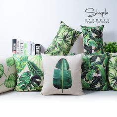 tropical rainforest cushion cover green leaf leaves pillows case decorative sofa throw cojines plant home decor-in Cushion Cover from Home & Garden on Aliexpress.com | Alibaba Group