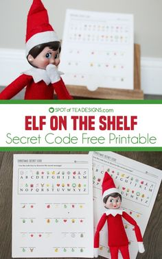 Watch the excitement in your child's eyes when using the secret code key at the top of this free printable to discover a secret message from Santa! Secret Santa Messages, Message From Santa, Elf On Shelf Printables, Free Printables, Christmas Activities, Craft Activities, Tea Design, Code Free, Secret Code