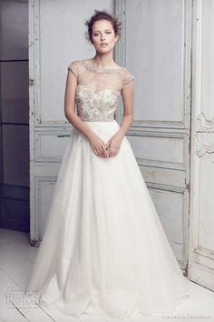 ive always wanted strapless but wow. Lattice pearls beaded bodice gown, Collette Dinnigan bridal 2011