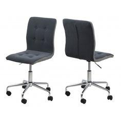 Une chaise très moderne sera la plus idéale dans votre bureau! effectuée excellemment en tissu capitonné de couleur gris foncé garantissant une assise confor...