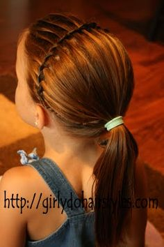 Girly Do's By Jenn: Water Fall Braid-- Headband