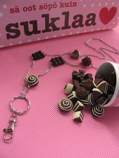 Suklaakonvehti, avainkaulaketju