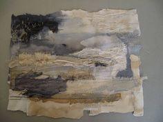Flux by laura edgar Textile Texture, Textile Fiber Art, Fibre Art, Collage Landscape, Abstract Landscape, Art Fibres Textiles, Stitch Drawing, Creative Textiles, Textiles Techniques