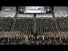 ▶ 10000 singing Beethoven - Ode an die Freude _ Ode to Joy - YouTube