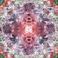 Sea anemone kaleidoscope Art Print