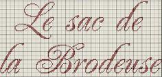 le_sac_de_la_brodeuse Blackwork Embroidery, Cute Embroidery, Cross Stitch Embroidery, Cross Stitch Patterns, Alphabet, Monochrome, Cross Stitching, Letterpress, Bullet Journal