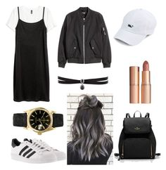 """hello."" by thisismegiusy on Polyvore featuring adidas, Rolex, Charlotte Tilbury and Fallon"