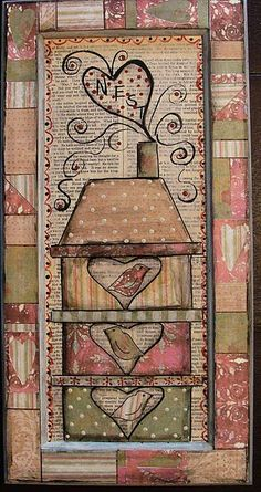 Mixed Media Collage Tutorials | Mixed media collage using scrapbook papers and vintage text starting ...