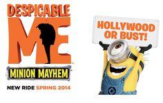 Nossas atrações favoritas no Universal Studios Hollywood #universalstudioshollywood #california #hollywood #parqueseingressos Minions