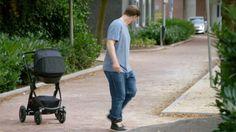 volkswagen autonomous stroller, self-braking stroller, stroller with automatic brakes, cruise control stroller, anti-collision stroller, smart baby gear