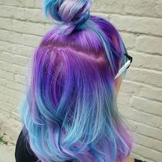 We are in love with the purple & blue ombre hair by @hairbykaseyohShop bright & Pastel colours here > www.beserk.com.au