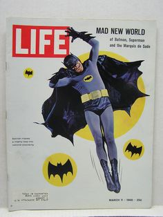 Mar 11 1966 Vintage Life Magazine Adam West as Batman on Cover L8258 | eBay