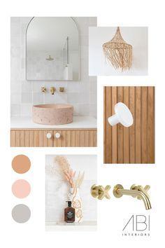 Laundry Bathroom Combo, Brass Bathroom, Bathroom Inspo, Spa Interior, Bathroom Interior, Coastal Interior, Interior Design Inspiration, Room Inspiration, Palm Springs Houses