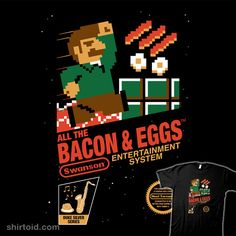 shirtoid:    All the Bacon and Eggs by Mike Handy is $10 today only (1/22) at Shirt Punch