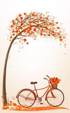 Autumn Tree Illustration Drawings 46 Ideas You are in the right place about coconut Tree Here Fall Wallpaper, Flower Wallpaper, Wallpaper Backgrounds, Orange Wallpaper, Drawing Wallpaper, Laptop Wallpaper, Autumn Art, Autumn Trees, Fall Leaves