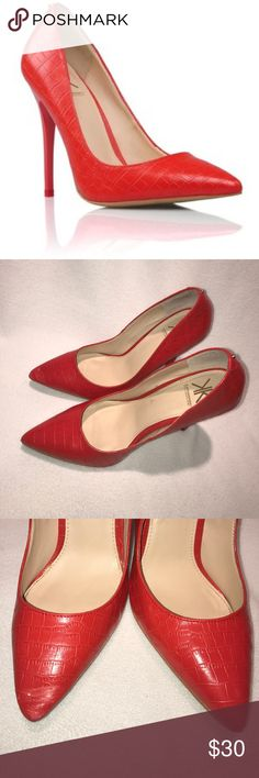 Red Stiletto Heels Worn | Great Condition | Small Scuffs & Signs of Wear | Stiletto Style | All Red | Gold Hardware | Man Made Upper Lining & Sole | Trades | More  Upon Request | Ask Any Questions Needed To Help With Decision | Bundles & Offers Are Welcomed ❤️| Kardashian Kollection Shoes Heels