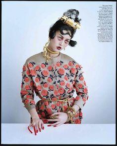 """Magical Thinking"" - Asia Chow, Liu Wen, and Xiao Wen Ju by Tim Walker for W Magazine March 2012"