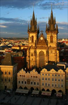 Old Town Square with Tyn Church, Prague