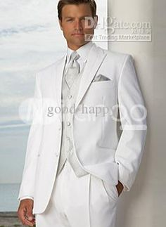 candidate dress in white men | White & Off White Tuxedos Suits For Men
