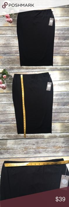 NWT VINCE CAMUTO Black Pencil Shirt - Small New with tags. VINCE CAMUTO Black Pencil Shirt - Small. Very soft material. Lined. See photos for measurements. No issues. Excellent condition. Smoke free home. Vince Camuto Skirts Pencil