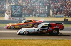 """A pair of classic funny car favorites...Dale Pulde and """"Snake"""" Prudhomme."""