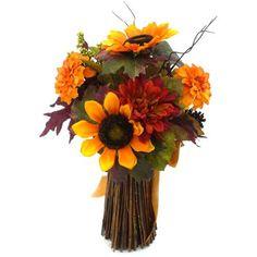Orange Mixed Sunflower Stack Harvest Bouquet