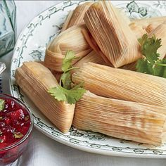 Cheesy Thanksgiving Tamales   You'll love our genius way to use leftover stuffing, turkey, or sweet potato casserole by turning it into the starchy outer layer of tamales.