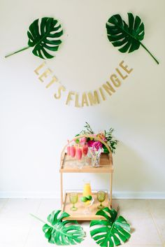 lets flamingle - photo by Madison Short Photography http://ruffledblog.com/sunny-palm-springs-wedding-inspiration