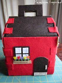 Penelope Inspired: Felt House Car Play Mat