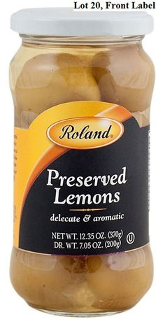 Roland Foods, LLC, Initiates A Voluntary Recall of Roland® Preserved Lemons Due to Undeclared Sulfites in Product