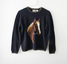 Vintage  Horse Sweater