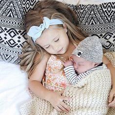Sweet sibling snuggles #kbcute