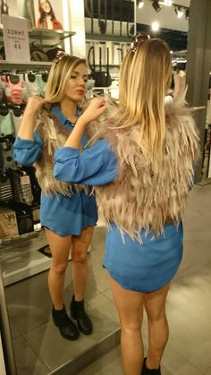 #feathers #topshop #blue #tan #unedited #uneditedlife #blonde #ankle #boots #autumn #outfit