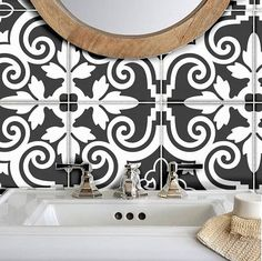 Tile Decals Stickers for Kitchen Backsplash Floor Bath Removable Waterproof: Tile Decals, Wall Tiles, Vinyl Decals, Tile Stickers Kitchen, Wall Waterproofing, Tuile, Linoleum Flooring, Floors, Bathroom Wall