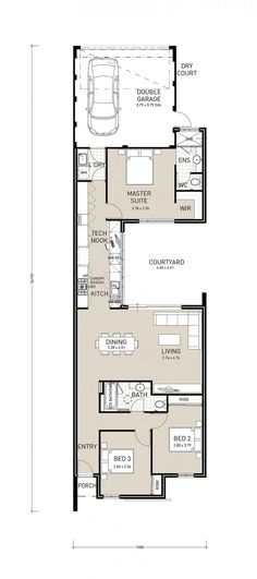 Centro Exclusive – A well designed rear garage plan to make the most of small lots as narrow as 7.5m. The long hallway provides a grand entrance to this home, and leads to your open plan kitchen, living and dining, and central courtyard. Packed with features, including a great IT nook, this home is the …